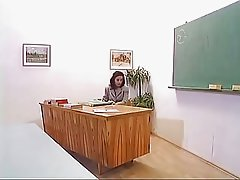 Mature Teacher With Mini Skirt Fucked in Class