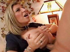 Giant jugged Sara Jay plays good cop as she fucks her mans stiff fuckpole