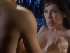 Randy MILF Rayveness lets this studs tongue taste her throbbing pussy lips