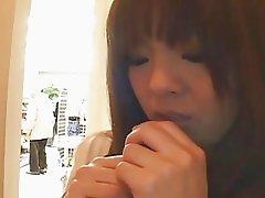 Big tits asian milf Hitomi Tanaka teased in public