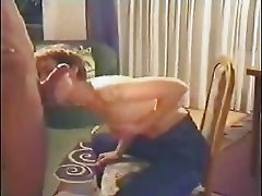 Wife's BJ sitting in chair