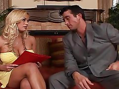 Giant boobs blonde boss Shyla Stylez fucking a guy
