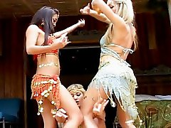 Kina Kai and 2 hot lesbians dances of India show