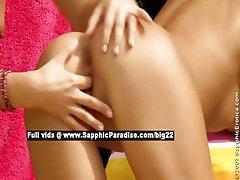 Debby and Jenny lovely lesbo girls fingering