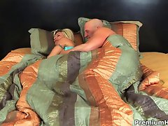 Perfect bitch fucks for big cumload