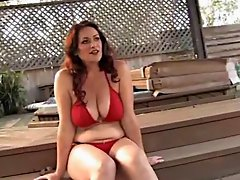 Amazing Woman near the Swimming Pool (+slow motion)