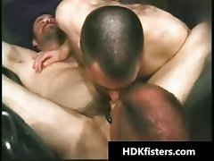 Super hardcore S and M gay asshole fisting part5