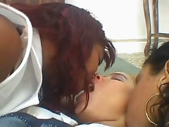 3 Brazilian Lesbians Kissing