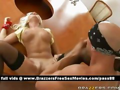 Horny blonde babe on the table gets her ass licked