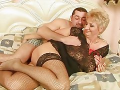 Grandma enjoys good sex with her boyfriend