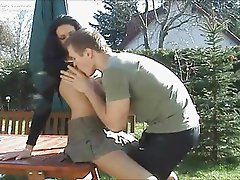 German Chick Having Sex Outdoors