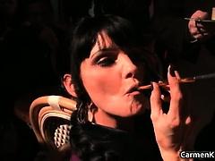 Sexy Carmen in perverse hard core sandm