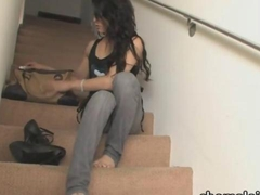 Shemale Domino Presley gets anal fucked