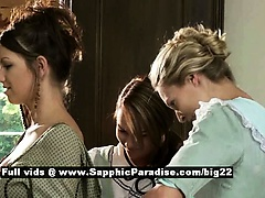 Juliette and Judit and Jessica from sapphic erotica lesbo girls bathing