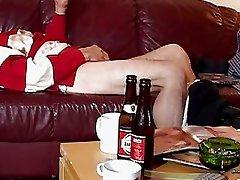 Horny old dude bangs slutty teen on his sofa