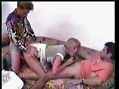 Blonde whore group action