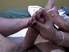 tickling and handjob