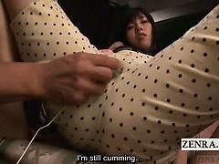 Subtitled CMNF Japanese AV Azusa Nagasawa vibrator play