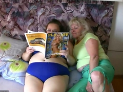 Chubby granny and old granny masturbating