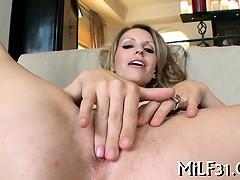 Horny darling gives wet blowjob