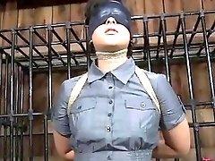 Tied up slave girl awaits her cruel punishment BDSM movie