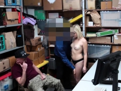 Blonde strip blow Suspect and accomplice were caught by