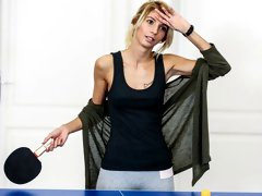 Sporty skinny angel Missy Luv fucked hard on the blue table