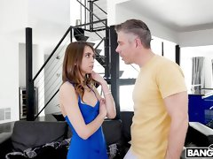 Awesome young babe Riley Reid fucks with a rich businessman