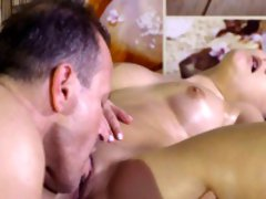 Dude rimming hot ass on massage
