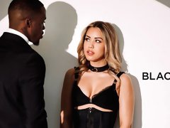 Two black guys are fucking a passionate white mademoiselle Alina Lopez