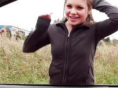Horny Russian chick hitchhiker fucked