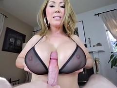 tit fuck with bra