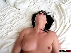 Cougar MILF stepmom rides his big dick like a nympho