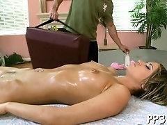 Naked maid Aleska Diamond gets body caressed