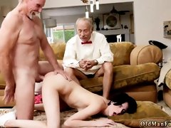 Old skinny granny and aurora anal threesome first time