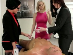 CFNM office matures toying with boss dick