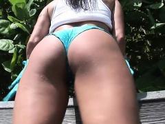Big tits having fun outdoors