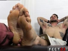 Boy on foot gay sex KC's New Foot & Sock Slave