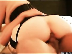 Bobbi Starr the hairy pussy slut in corset and stockings nailed