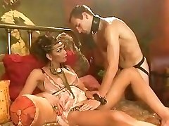 Shemale mistress plays around with her submissive bottom slave boy