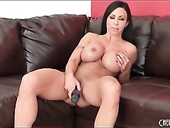 Sexy Jewels Jade fucks pussy with a dildo