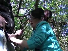 Wife masturbates in the woods