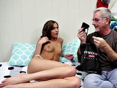 cheating gf punished by deepthroating cock