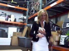 Smoking blonde hottie Hot Milf Banged At The PawnSHop
