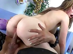 Cute girl gets pussy drilled by Asian ladyboy Venus Lux