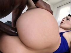 Babe assrides black cock