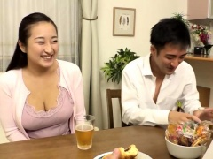 Big breasted Oriental milf gets drilled by her young lover