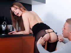 Seduced young secretary Stasia Si and her long-dicked boss