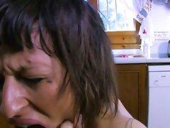 Big-Breasted Brunette Nymph Gets Reamed