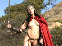 Beautiful outdoor solo session with a hot girlfriend Mila Blaze